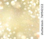 abstract light bokeh background.... | Shutterstock . vector #769542112