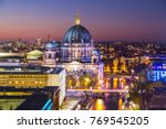 berlin city skyline at sunset | Shutterstock . vector #769545205