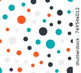colorful polka dots seamless... | Shutterstock .eps vector #769546012