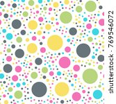 colorful polka dots seamless... | Shutterstock .eps vector #769546072