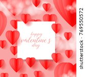 happy valentine's day greeting... | Shutterstock .eps vector #769550572