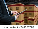 smart logistic industry 4.0  ... | Shutterstock . vector #769557682