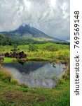 cloud covered arenal volcano...   Shutterstock . vector #769569148