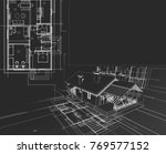 house  architectural project ... | Shutterstock . vector #769577152