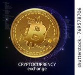 exchange of crypto currency.... | Shutterstock .eps vector #769578706