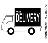 free delivery object | Shutterstock .eps vector #769580872
