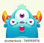 cute cartoon monster | Shutterstock .eps vector #769593976