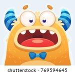 cute cartoon yellow monster | Shutterstock .eps vector #769594645