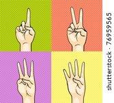 gesturing hands showing numbers ... | Shutterstock .eps vector #76959565