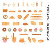bakery and pastry products... | Shutterstock . vector #769595662
