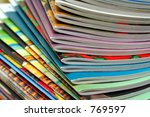 Colorful magazines - stock photo