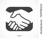 handshake in a rounded square | Shutterstock .eps vector #769598152