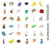 sultan icons set. isometric...   Shutterstock .eps vector #769603135