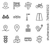thin line icon set   pointer ... | Shutterstock .eps vector #769603522