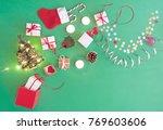 christmas presents  baubles ... | Shutterstock . vector #769603606
