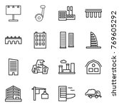 thin line icon set   billboard  ...   Shutterstock .eps vector #769605292