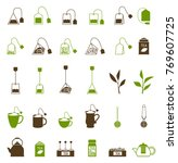 coffee and tea cup icon. teapot ... | Shutterstock . vector #769607725