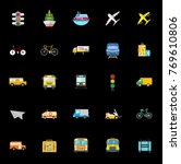 transport icons set | Shutterstock .eps vector #769610806