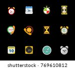 time icons set   Shutterstock .eps vector #769610812