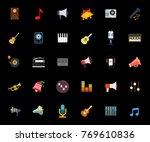 music icons set   Shutterstock .eps vector #769610836