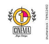 cinema or movie logo template... | Shutterstock .eps vector #769612402