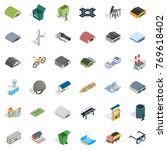 hanger icons set. isometric... | Shutterstock .eps vector #769618402
