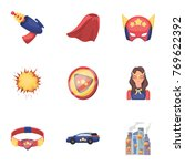 superman  explosion  fire  and... | Shutterstock .eps vector #769622392