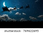 silhouette of a flying goth...   Shutterstock . vector #769622695