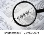 """headline """"cyber attack"""" in...   Shutterstock . vector #769630075"""