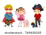 illustration of stickman kids... | Shutterstock .eps vector #769630105