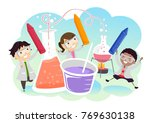 illustration of stickman kids... | Shutterstock .eps vector #769630138