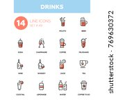 food theme  alcohol and soft... | Shutterstock .eps vector #769630372