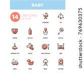 baby   line design icons set....