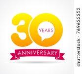 30 years anniversary... | Shutterstock .eps vector #769632352