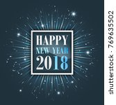 happy new year 2018 greeting... | Shutterstock .eps vector #769635502