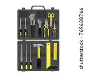 tools for repair and... | Shutterstock .eps vector #769638766