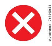 delete sign. red circle. x.... | Shutterstock .eps vector #769640656