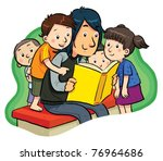 book reading | Shutterstock .eps vector #76964686