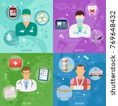medical square banners surgeon  ... | Shutterstock .eps vector #769648432
