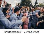 handsome indian groom dressed...   Shutterstock . vector #769653925