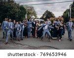 handsome indian groom dressed... | Shutterstock . vector #769653946