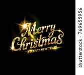 merry christmas lettering for...   Shutterstock .eps vector #769655956