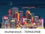 merry christmas   new year...   Shutterstock .eps vector #769661968