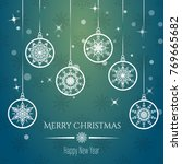merry christmas and new year... | Shutterstock .eps vector #769665682