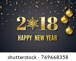 2018 new year background for... | Shutterstock . vector #769668358
