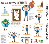 businessman has damage brain... | Shutterstock .eps vector #769668808