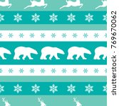 seamless winter pattern with... | Shutterstock .eps vector #769670062