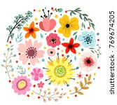 abstract flowers and herbs... | Shutterstock .eps vector #769674205