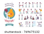 doctor ready to use character... | Shutterstock .eps vector #769675132