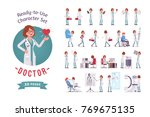doctor ready to use character... | Shutterstock .eps vector #769675135